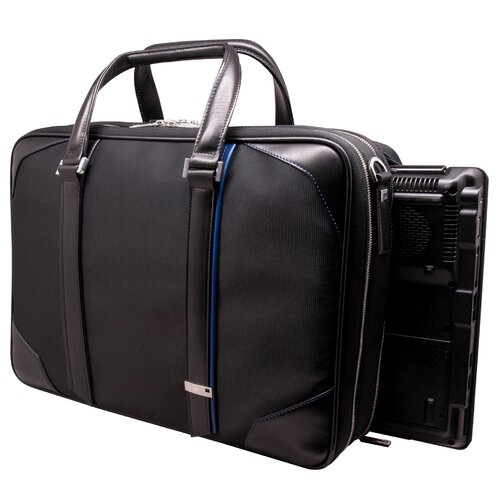 Aaron Irvin Textured Laptop Briefcase