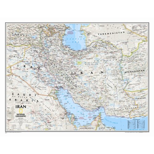 National Geographic Maps Iran Classic Wall Map