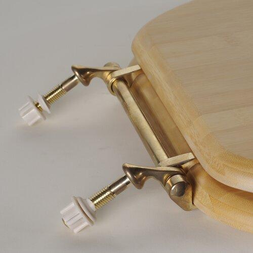 Comfort Seats Deluxe Bamboo Round Toilet Seat
