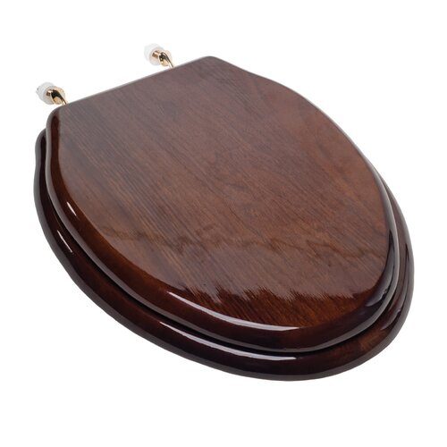 Comfort Seats Designer Solid Wood Elongated Toilet Seat