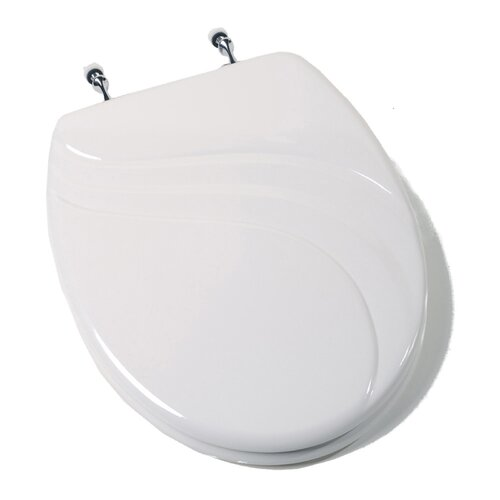 Deluxe Molded Wood Elongated Toilet Seat