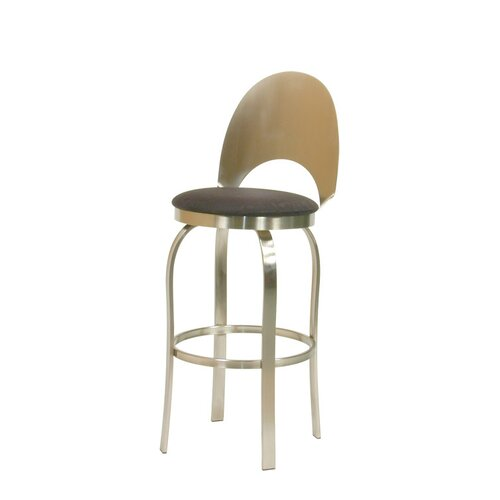 Trica Champagne Swivel Bar Stool
