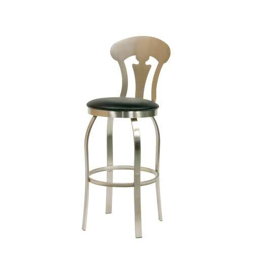 Trica Vintage Swivel Bar Stool with Cushion