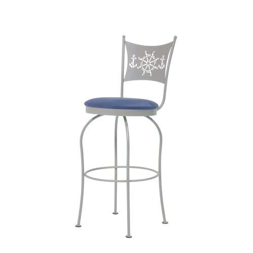 Trica Art I Swivel Bar Stool with Cushion