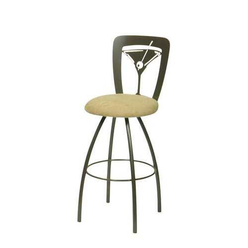 Trica Martini Swivel Bar Stool with Cushion
