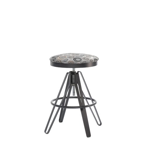 "Trica 24"" Adjustable Bar Stool with Cushion"