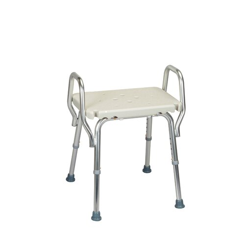 Eagle Health Shower Chair with Backless Molded Seat and Arms