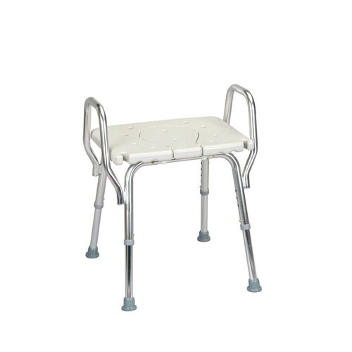 Shower Chair with Backless Molded Cut-Out Seat and Arms
