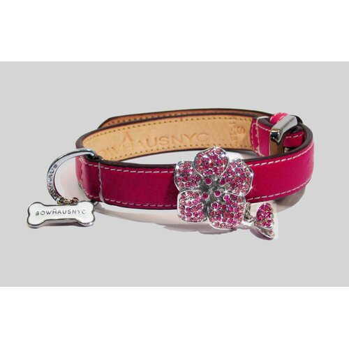 Rose Collar in Hot Pink