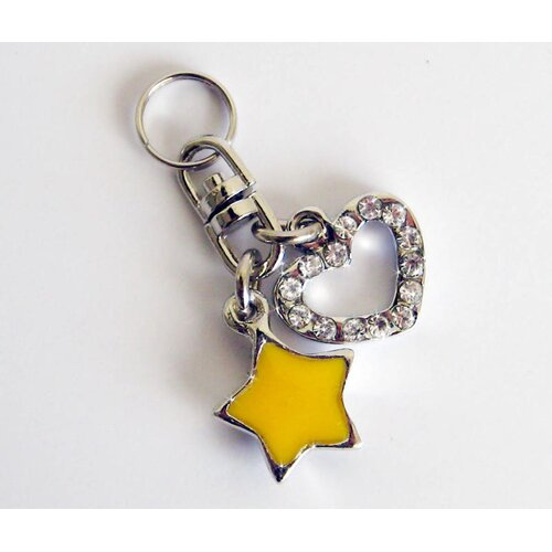 Heart and Star Collar Charm