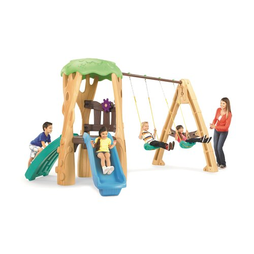 Little tikes tree house swing set reviews wayfair for Tree house swing set