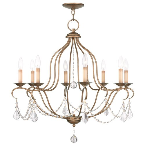 Chesterfield 8 Light Candle Chandelier
