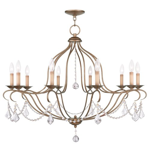 Chesterfield 10 Light Candle Chandelier