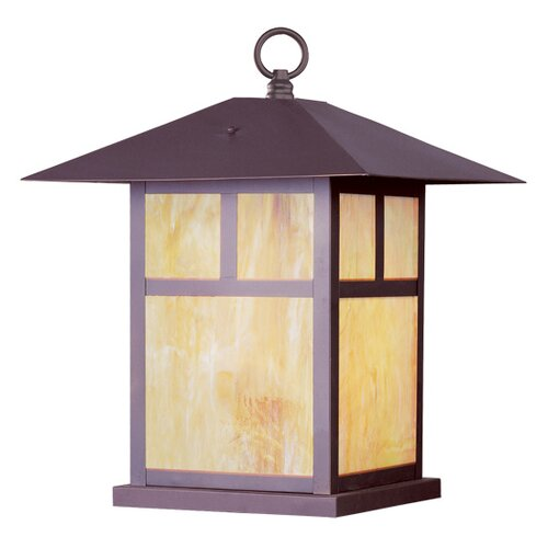 Livex Lighting Montclair Mission 1 Light Outdoor Pier Top
