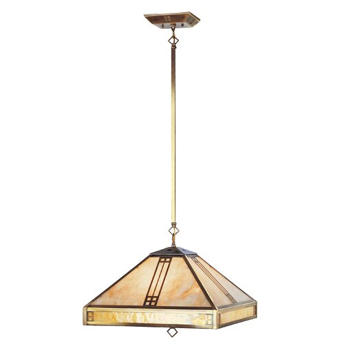 Livex Lighting Mission Tiffany 4 Light Pendant
