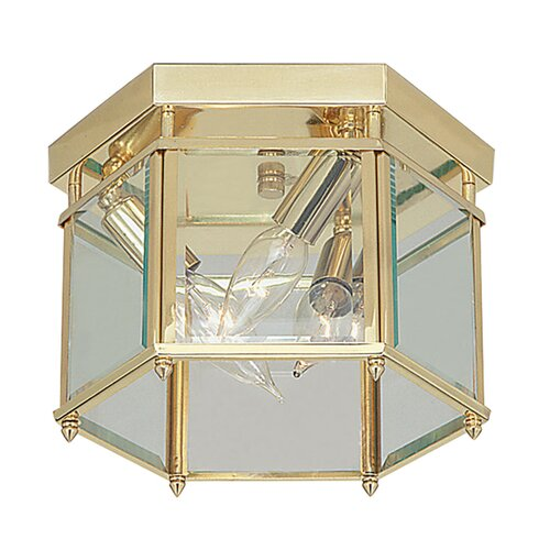 "Livex Lighting 6.25"" 3 Light Flush Mount"
