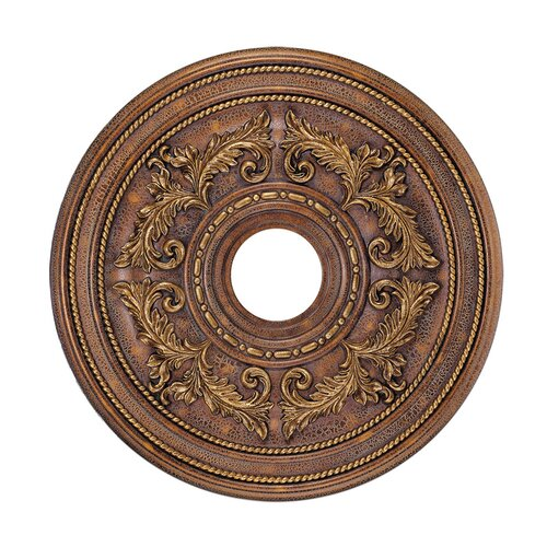 Livex Lighting Ceiling Medallion in Crackled Greek Bronze
