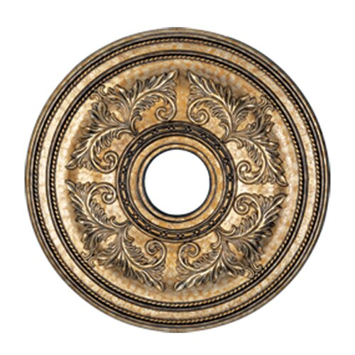 Livex Lighting Ceiling Medallion in Vintage Gold Leaf