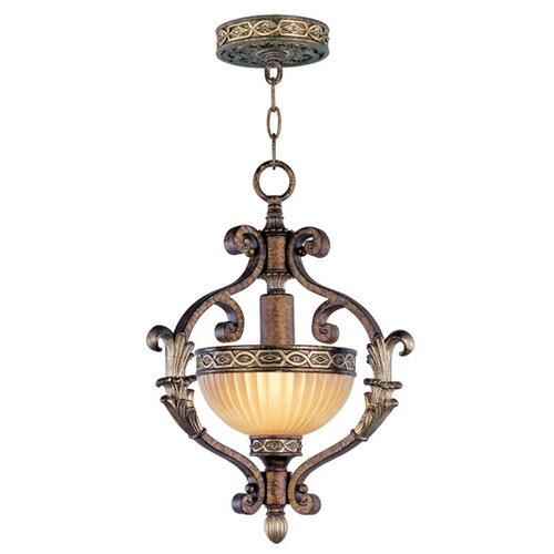 Livex Lighting Seville 1 Light Convertible Inverted Pendant