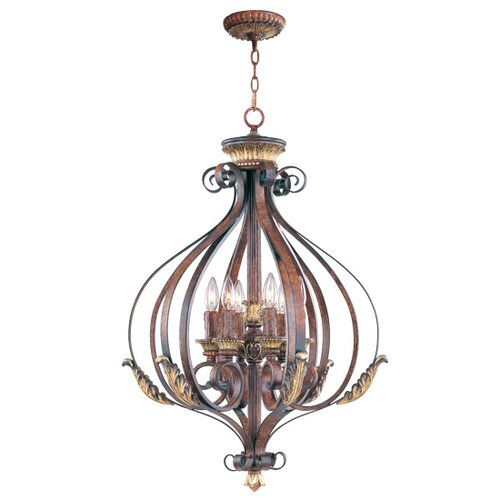 Livex Lighting Villa Verona 6 Light Foyer Pendant