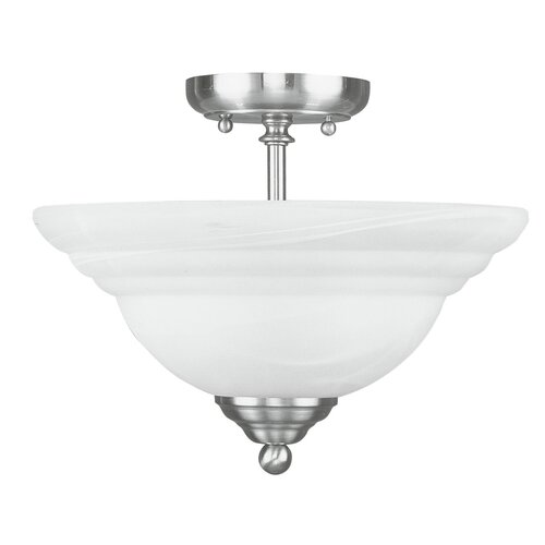 Livex Lighting North Port 2 Light Semi Flush Mount