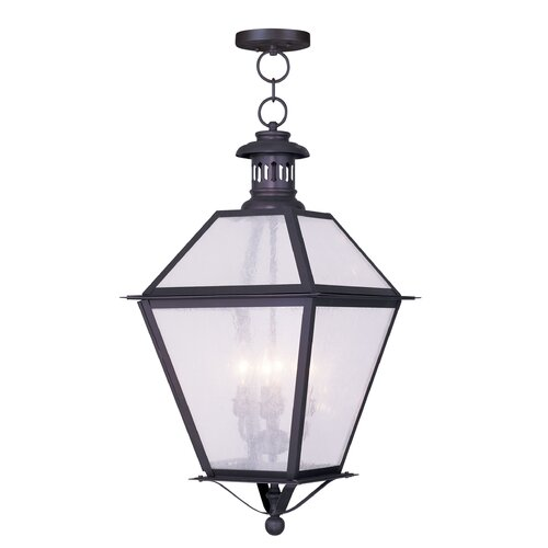 Livex Lighting Waldwick 4 Light Outdoor Hanging Lantern