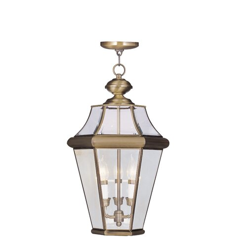 Livex Lighting Georgetown 2 Light Outdoor Hanging Lantern