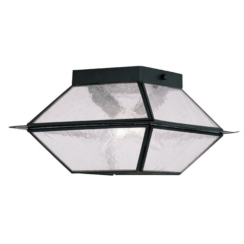 Livex Lighting Mansfield 2 Light Outdoor Flush Mount