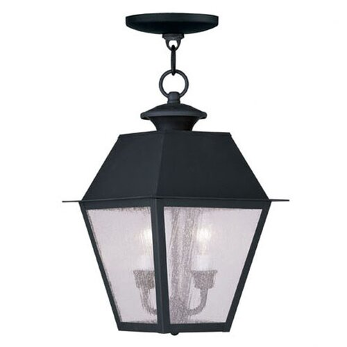 Livex Lighting Mansfield 2 Light Outdoor Hanging Lantern