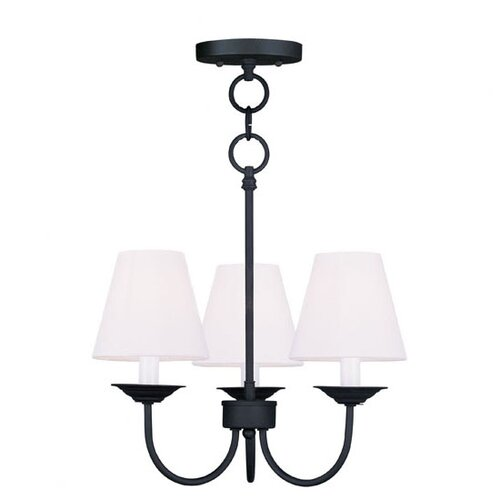 Livex Lighting Mendham 3 Light Convertible  Chandelier
