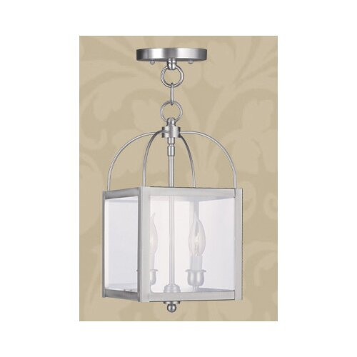 Livex Lighting Milford 2 Light Convertible Foyer Pendant