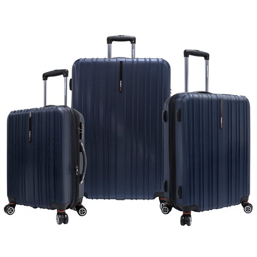 Traveler's Choice Tasmania 3 Piece Expandable Spinner Luggage Set