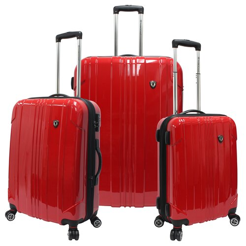 Traveler's Choice Sedona 100% Pure Polycarbonate 3 Piece Expandable Spinner Luggage Set