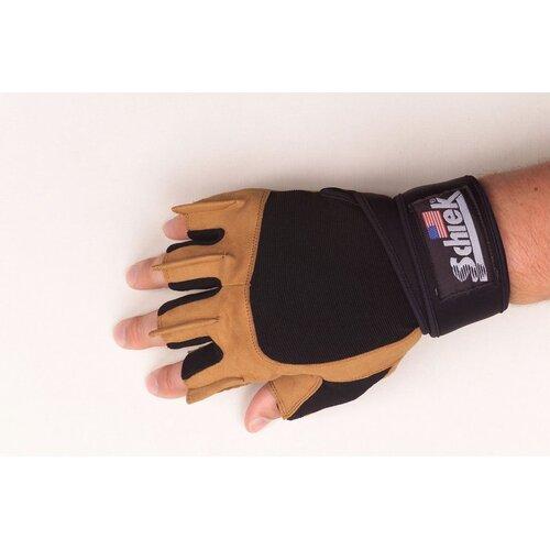 Schiek Sports, Inc. Power Gel Gloves with Wrist Wraps in Tan / Black