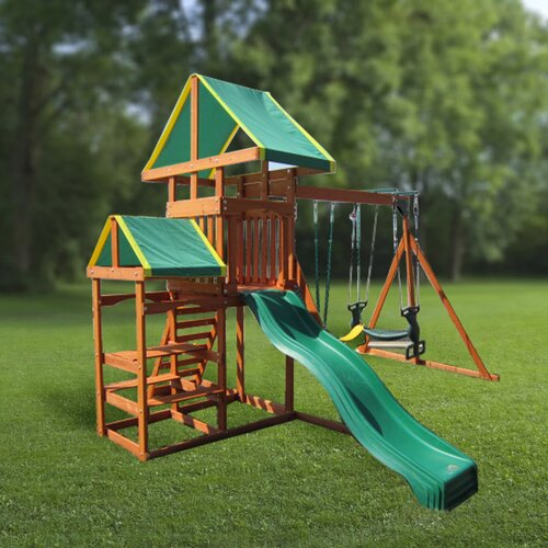 Swing Town Woodlands Gym Swing Set