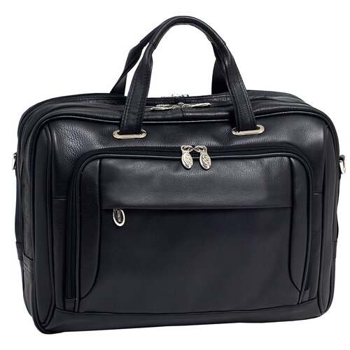 I Series West Loop Leather Laptop Briefcase