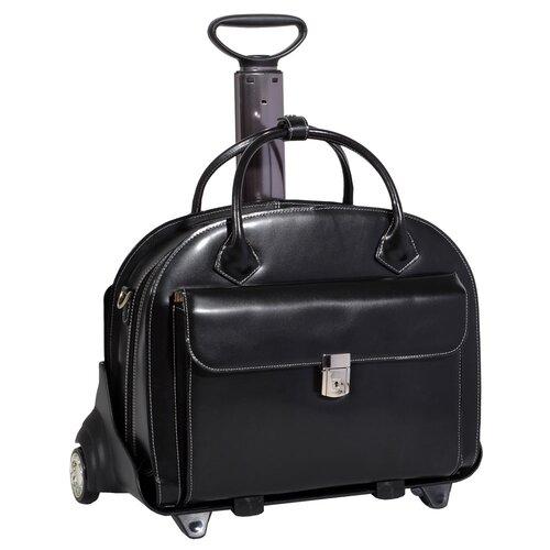 McKlein USA W Series Glen Ellyn Leather Laptop Briefcase