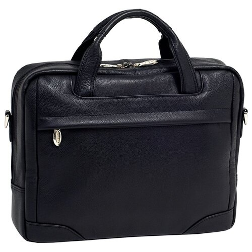 McKlein USA S Series Bronzeville Leather Laptop Briefcase