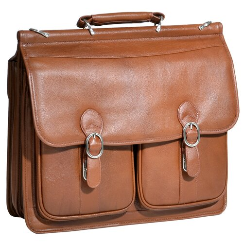 McKlein USA S Series Hazel Crest Leather Laptop Briefcase