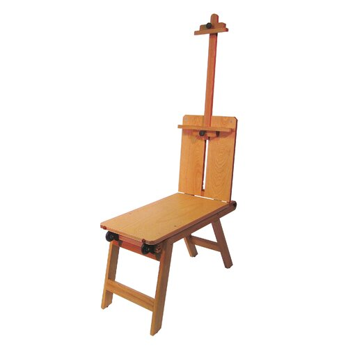 Martin Universal Design Rolling Wooden Bench-Style Artist Easel in Natural Wood