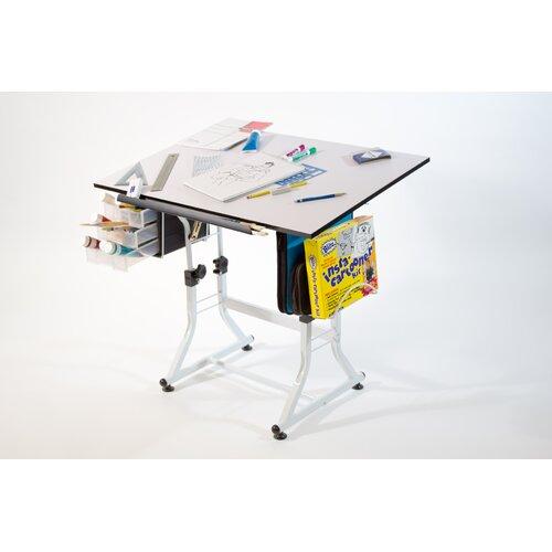 Martin Universal Design Ashley Creative White Melamine Hobby Table