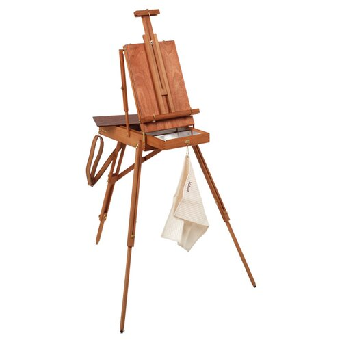 Martin Universal Design Jullian of Paris Full Size Wooden French Sketch Box Easel in Mahogany