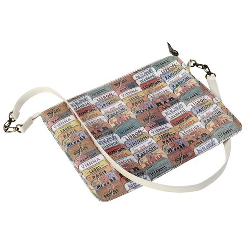 PAA Printed Document Shoulder Bag