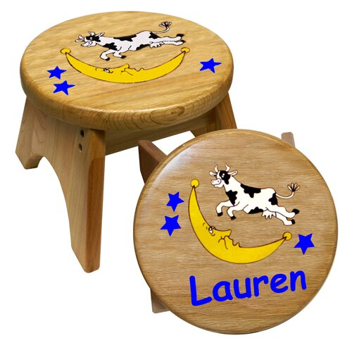 Cow Over Moon Kid's Stool