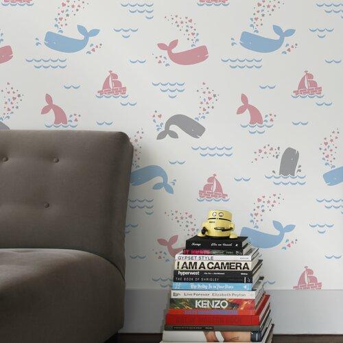 Aimee Wilder Designs Whalentine Wallpaper