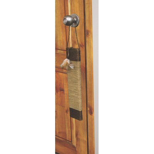 Ware Manufacturing Door Cat Scratcher With Feathers