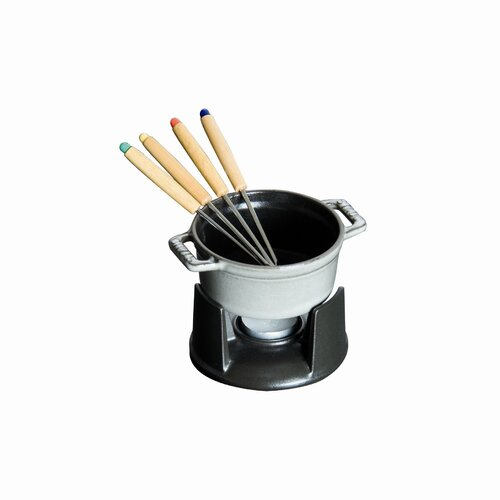 Mini Chocolate 0.25 qt. Fondue Set in Graphite