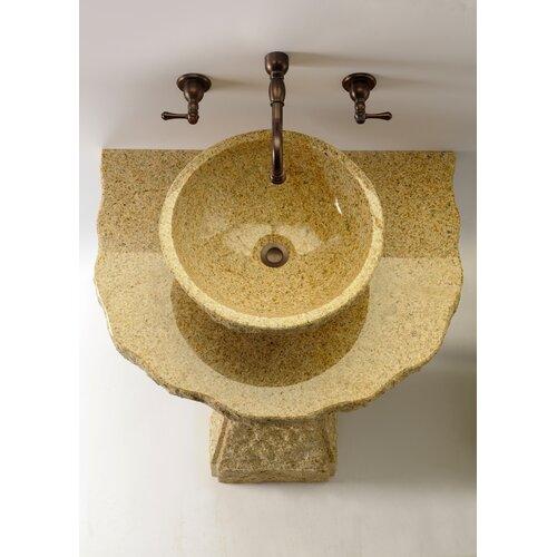 Quiescence Pillar Divine Pedestal Bathroom Sink