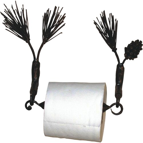Quiescence Pine Wall Mounted Toilet Paper Holder