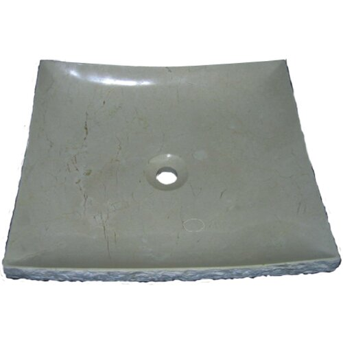 Serene Rectangular Natural Stone Vessel Bathroom Sink